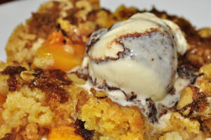 Homemade Peach Dump Cake Recipe