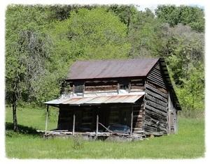 Antique Log Cabin 1860's