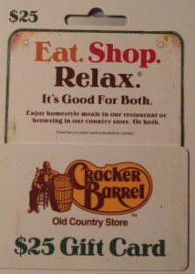Cracker Barrel Gift Card Giveaway