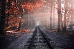 Autumn railway-