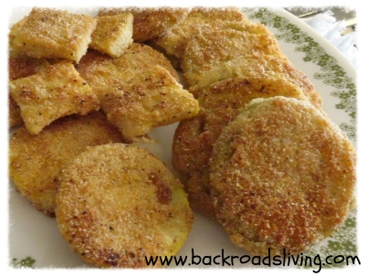 Fried Green Tomatoes and Fried Summer Squash Year Round!