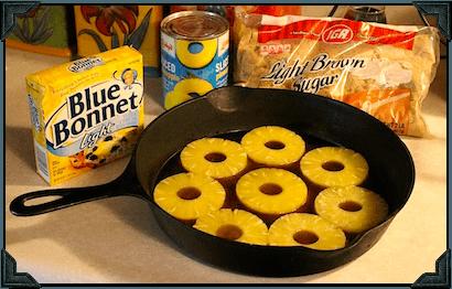 Pineapple Upside Down Cake Mix Cast Iron Skillet Martha Stewart