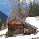 Cabins in Winter Beautiful Vintage and Modern